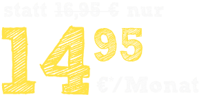 nur 14.95 €*/Monat